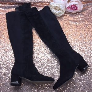 Michael Kors Black Over The Knee Boots 5.5M